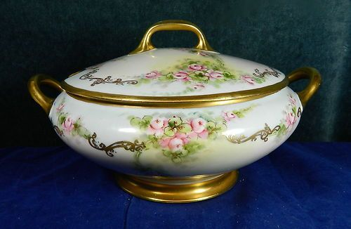 """GORGEOUS ~ Hand Painted Soup Tureen Italy 