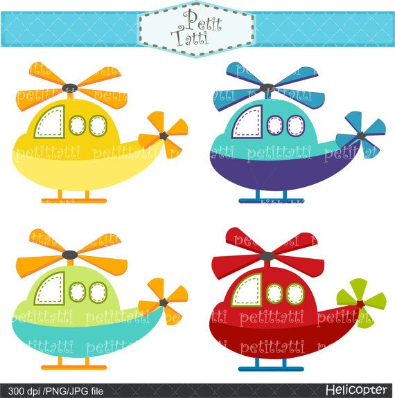 Helicopter clip art transportation clip art by petittatti, $3.90