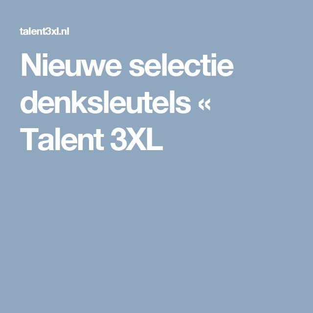 Nieuwe selectie denksleutels « Talent 3XL