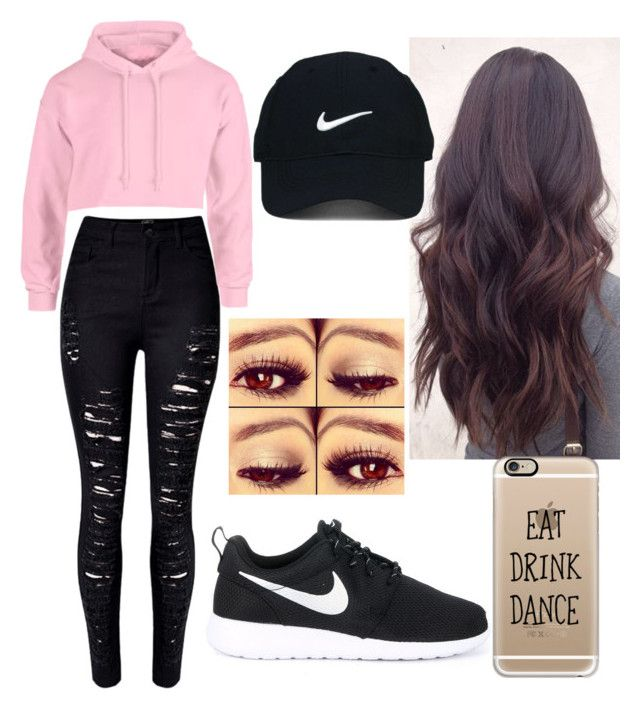 """Dance Practice Outfit"" by pandagirl2102 ❤ liked on Polyvore featuring WithChic, NIKE, Nike Golf and Casetify"