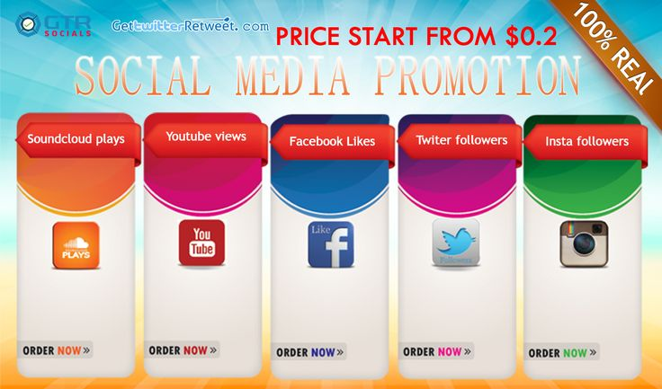 Twitter retweets and favorites form $0.2 Instagram followers from $0.2 Instagram likes from $0.02 Instagram views from $0.02 Facebook photo status likes form $0.4 FB Fanpage Post Share 8 Instagram likes & Followers from $0.2 Youtube views 1000 for $ 4 Soundcloud plays 1000 fro $4 Vine Likes 1000 for $4 Vine Revine 1000 for $4 Many more....