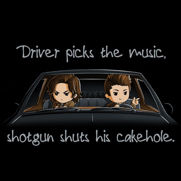 Shotgun Shuts His Cakehole - This official Supernatural t-shirt featuring Sam and Dean Winchester is only available at TeeTurtle!