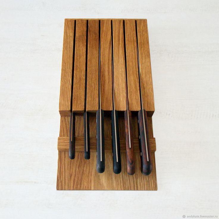 Подставка из дуба для ножей (390х200х50мм) – купить в интернет-магазине на Ярмарке Мастеров с доставкой - F924XRU