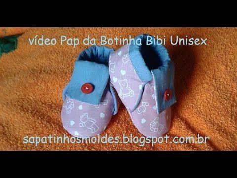 Pap da montagem da Botinha Bibi Unisex...Mudou o tecido ela se transforma para menino ou menina. Molde disponível no Blog: http://sapatinhosbibi.com/ Se pref...