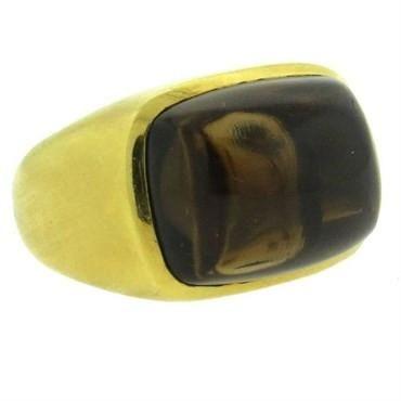 Bold H. Stern Smokey Topaz 18K Gold Ring