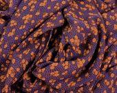 Mousseline de Polyester imprimé fleurs sur fond Violet : Tissus Habillement, Déco par au-far-ouest-creatif