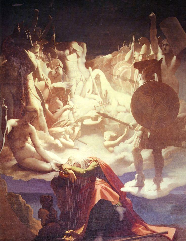 The Dream of Ossian, Jean-Auguste-Dominique Ingres, 1812-1813. Olio su tela, 3,5 m x 2,75 m.