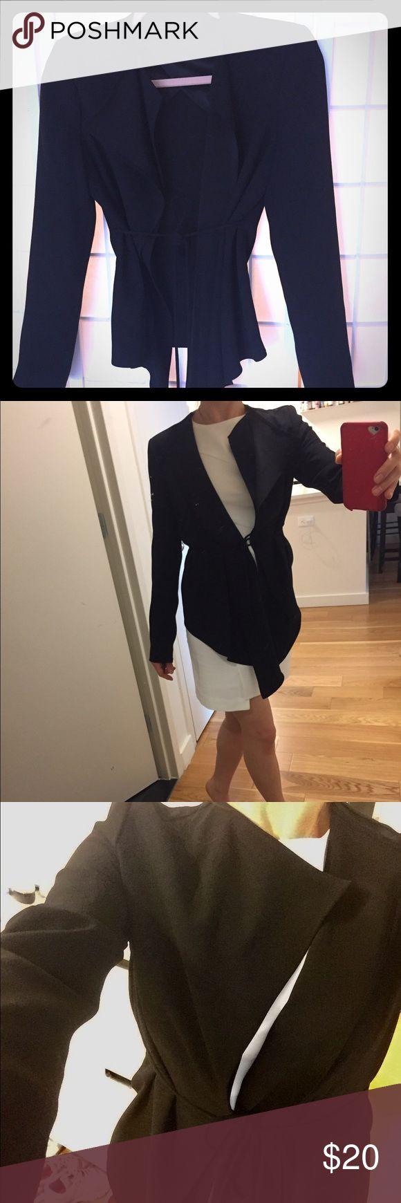 Jacket Asymmetrical light black jacket. Great condition Zara Other