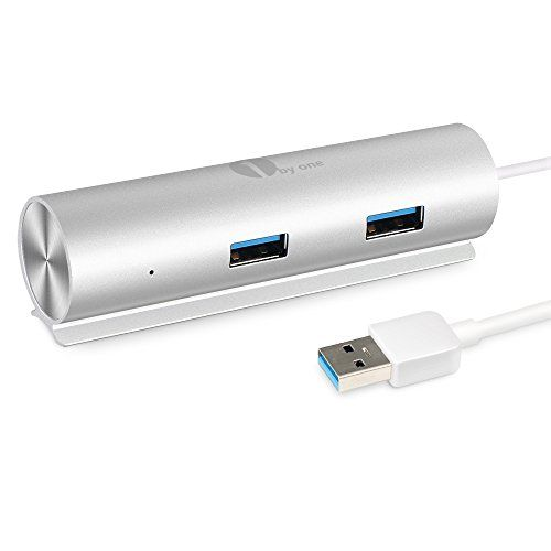 1byone USB3.0 4ポートハブ 高速5Gbpsアルミ製 38.1cmケーブル一体型 ラップトップ対応
