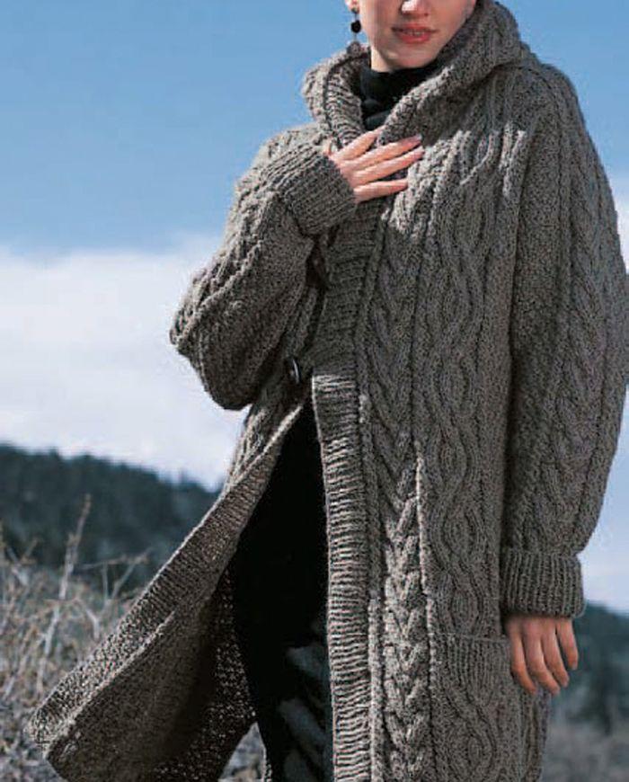 Aran Duffle Coat by Judith L. Swartz
