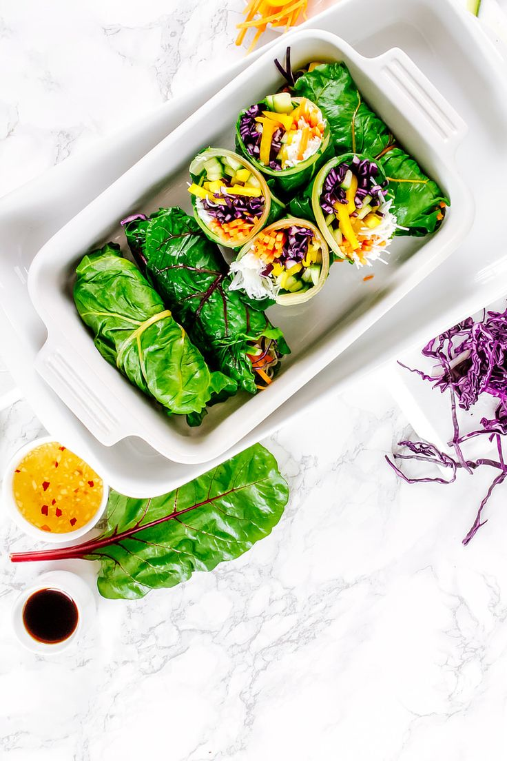 Asian Style Rainbow Chard Wraps | VEGETARIAN DEPARTMENT