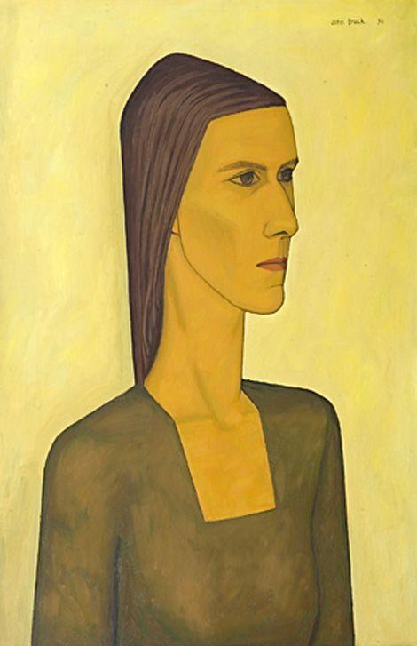 John Brack, Helen Brack, 1954. John Brack's style shows the influence of French artist Bernard Buffet