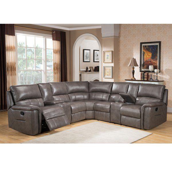 Casual 90 Power Reclining Sofa In Gray Grey Leather Sofa Living Room Reclining Sofa Living Room Grey Sofa Living Room