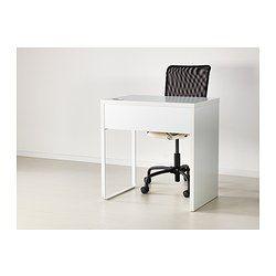Micke desk ikea and desks on pinterest for Bureau ikea micke
