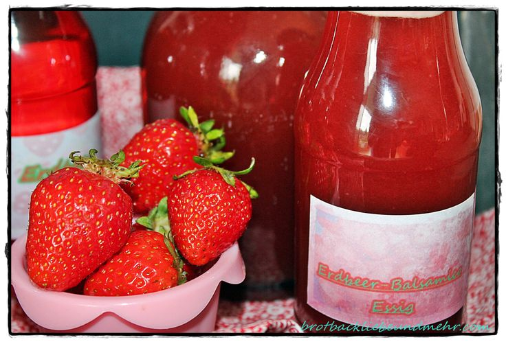 Erdbeer-Balsamico-Essig