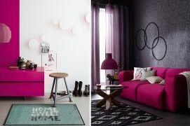Trendi pink lakberendezési kiegészítők