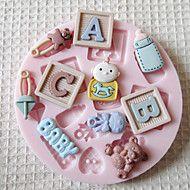 Muffa ABC BAMBINO silicone del fondente di zucchero Craft Stampo Strumenti cioccolato stampi per torte