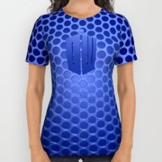 Tardis Logo All Over Print Shirt