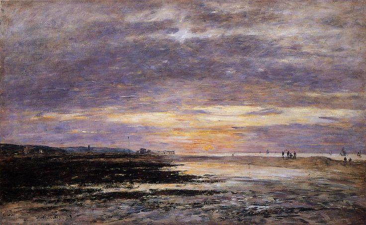 Deauville Sunset on the Beach 1893 | Eugene Louis Boudin | Oil Painting