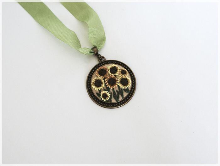 Wisior, naszyjnik z mas polimerowych, modelina, polymer clay, handmade, rękodzieło, biżuteria, jewelery