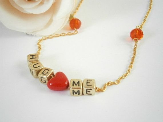 Hug Me Necklace  Xoxo Necklaces  Gift for by GlamorousSparkle