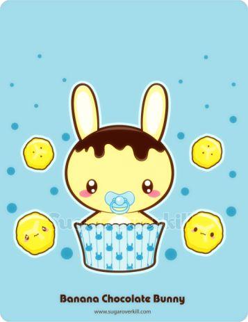 Banana Chocolate Truffle Bunny by mAi2x-chan on DeviantArt