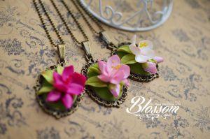 Sakura pendants by BlossomHandmade