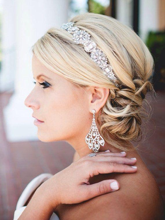 Hochzeit Braut Kopfschmuck Vintage inspiriert Art-Deco-Stil Kristall Stirnband
