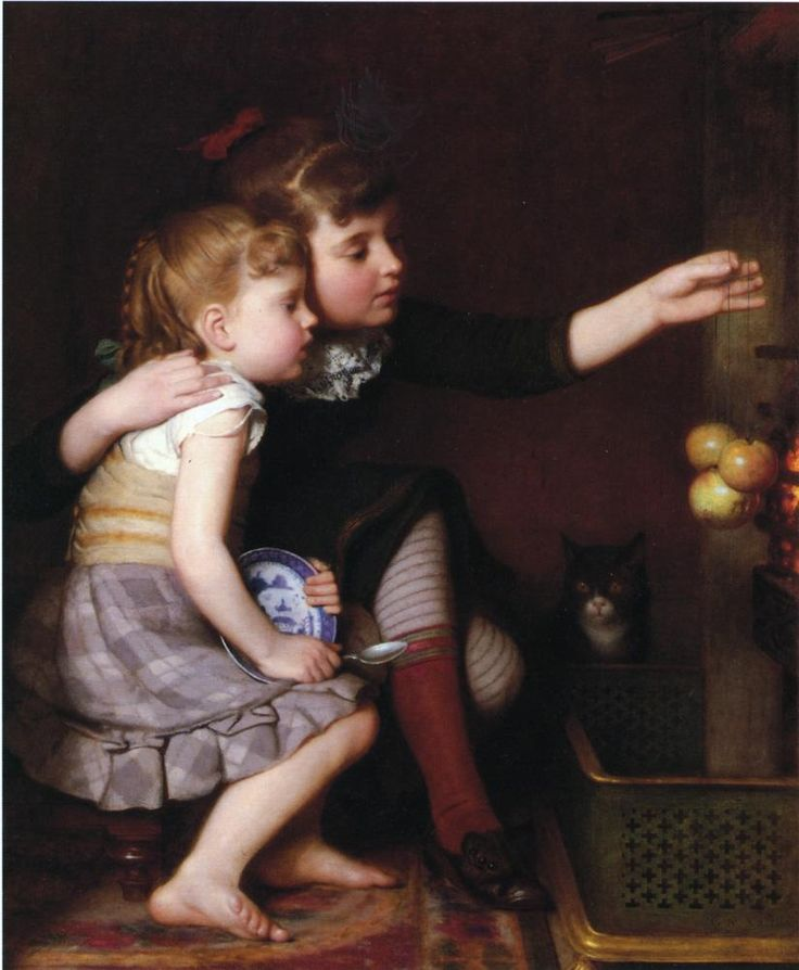 One for Mommy, One for Me, 1881   Seymour Joseph Guy