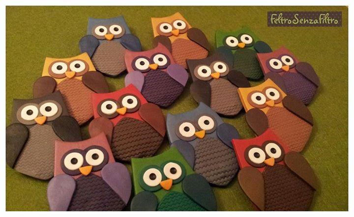 #Polymerclay #Owl #Brooch - #Gufi di #Fimo #Spilla
