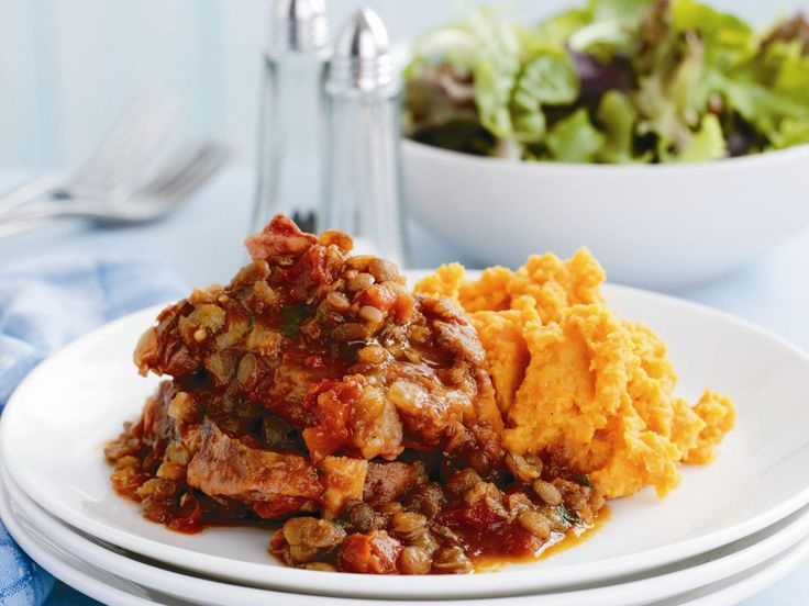 This thick, hearty lamb neck chop and lentil stew is brilliant served with a dollop of creamy kumara carrot mash. It's the perfect combination of flavours for a warming family dinner.