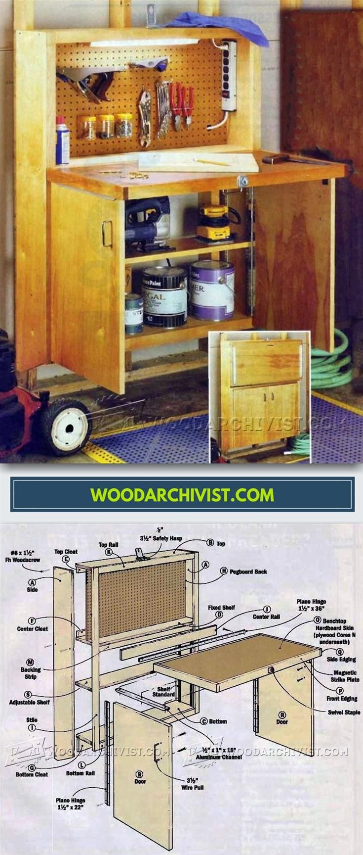 DIY Fold Down Workbench - Workshop Solutions Projects, Tips and Tricks | WoodArchivist.com
