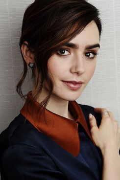 Lily Collins Portrait Session photographed by Chris Pizzello