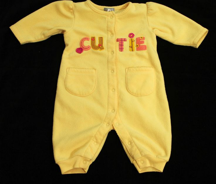 Carters Girls Fleece Pajama Sleeper One Piece Cutie Yellow Size 3 Months in Clothing, Shoes & Accessories, Baby & Toddler Clothing, Girls' Clothing (Newborn-5T) | eBay