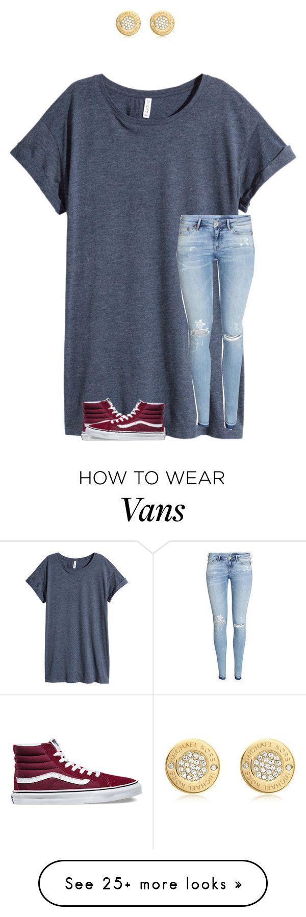 """While you catch these feelings I'm going to sip on this drink"" by awesome2much on Polyvore featuring H&M, Vans and Michael Kors"