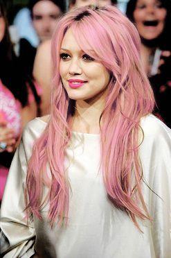 Hilary Duffs Pinklavender Hair Hair Hair Lavender Hair Hair