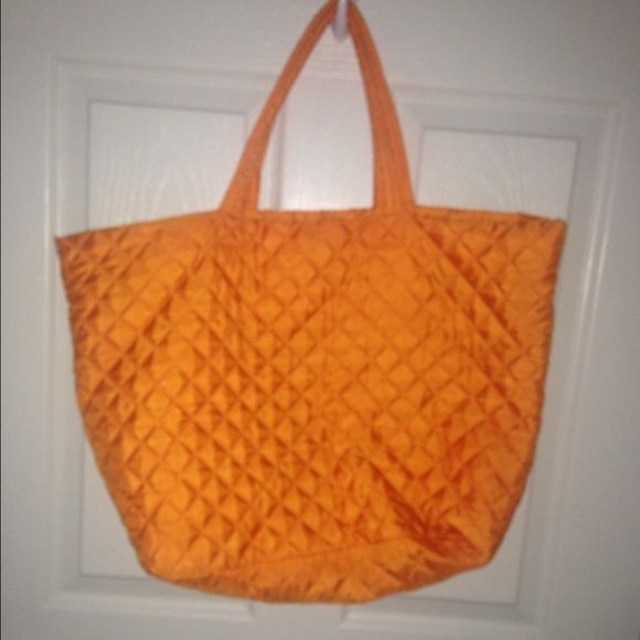 Orange tote bag Has a inside pocket with zipper. Great for going to the pool or beach! Bags Totes