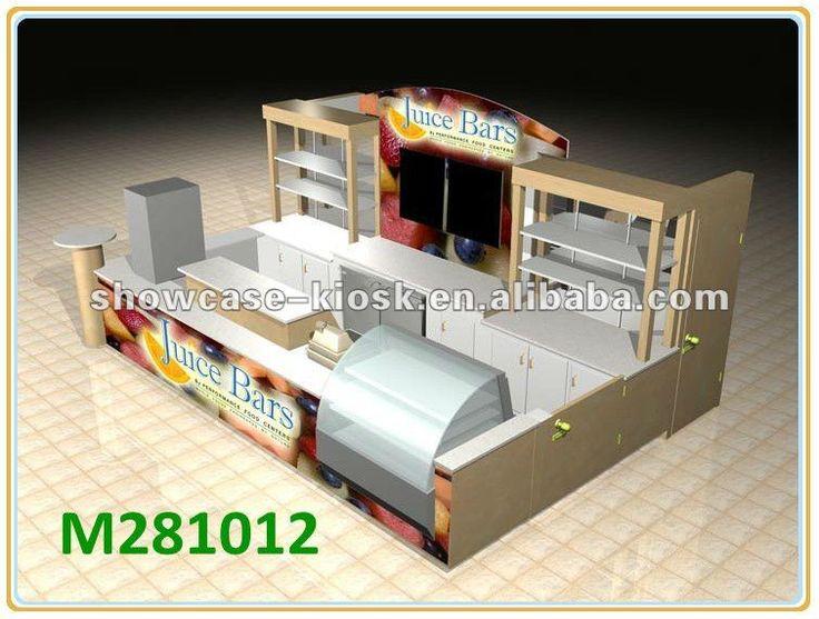 De madera de servicio de alimentos jucie kiosco bar para for Kiosco bar prefabricado