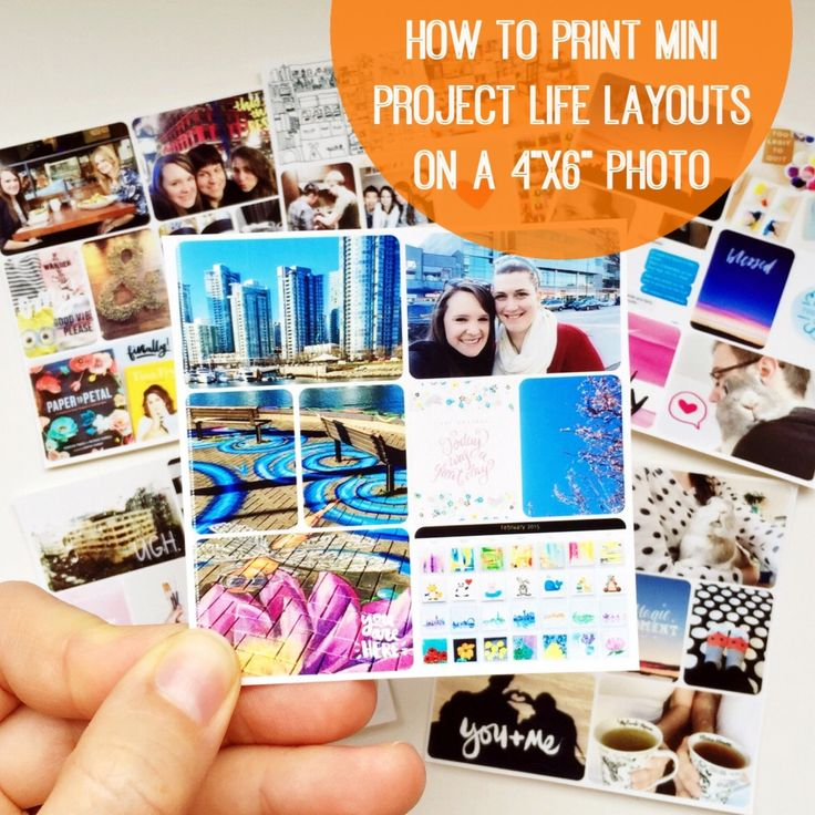 How to print mini Project Life layouts on a 4×6 photo | Olya Schmidt