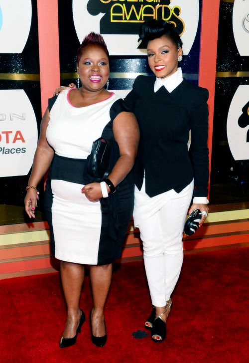 Janelle Monáe and her mother at the Soul Train Awards