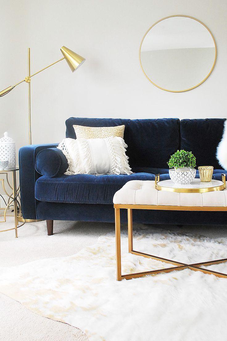Sven Cascadia Blue Sofa Gold Living Room Blue Sofas Living Room Blue Sofa Living