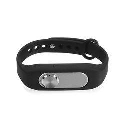 Bracelet enregistreur vocal boîtier amovible 4Go mémoire flash Noir Yonis