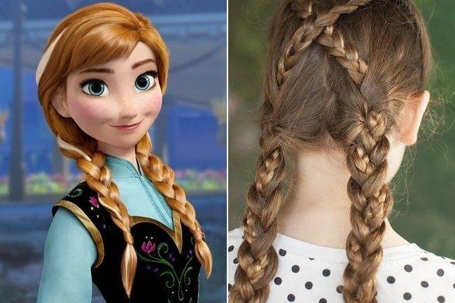 Anna Frozen Disney Princess Hairstyles Little Girl Hairstyles Disney Hair