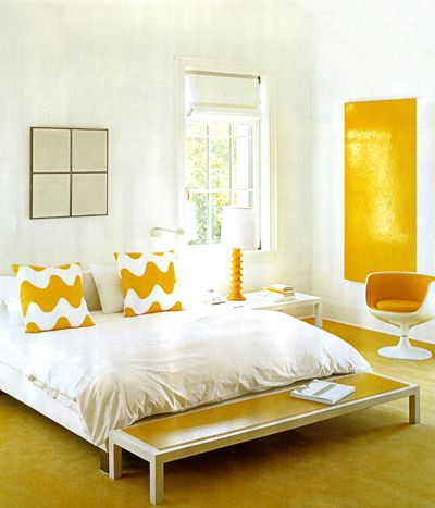 Yellow patterned cushions