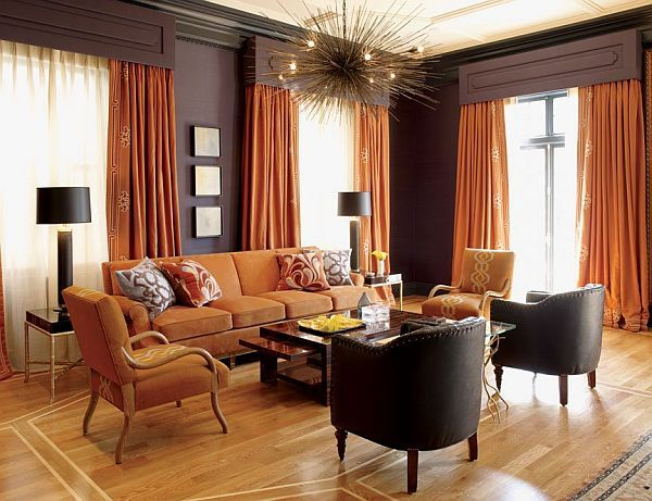 24 Best Living Room Terracota Orange Colors Images On Pinterest Prepossessing Orange Curtains For Living Room Design Ideas