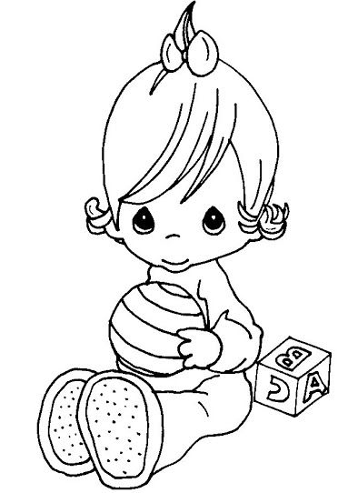 precious moments baby coloring pages - photo#17