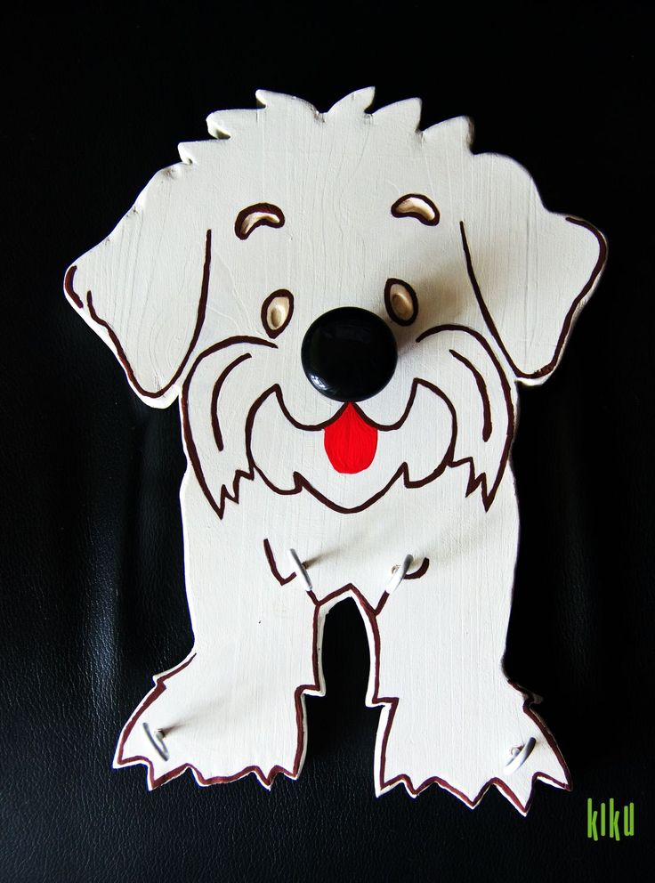 Bichon Hanger for dog lovers. A design created by us!
