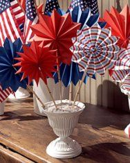 Patriotic Fans for Independence Day   Martha Stewart