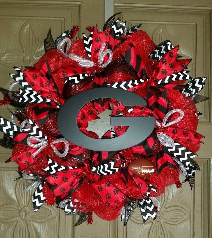 Georgia Bulldogs deco mesh wreath
