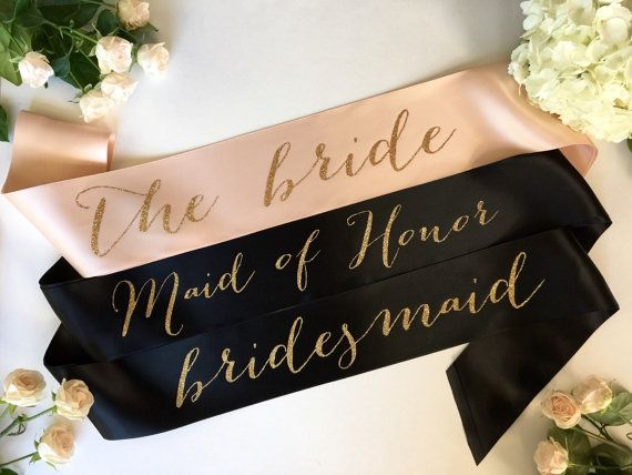 Bride to Be Sash  bridal party sash bridesmaid by ShadesOfPinkBtq
